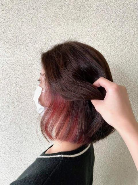 インナーカラー☆ベリーピンク