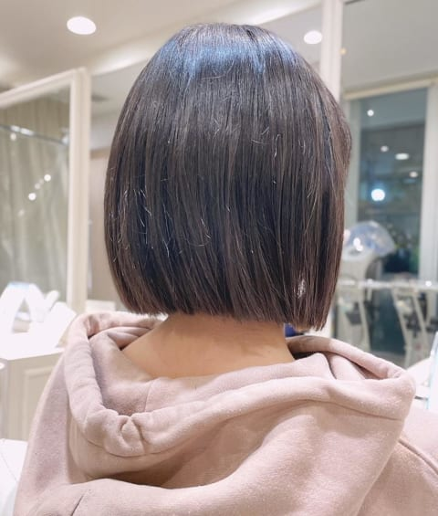 髪質改善縮毛矯正×ボブ