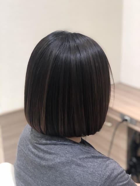 縮毛矯正+髪質改善モイスチャートリートメント