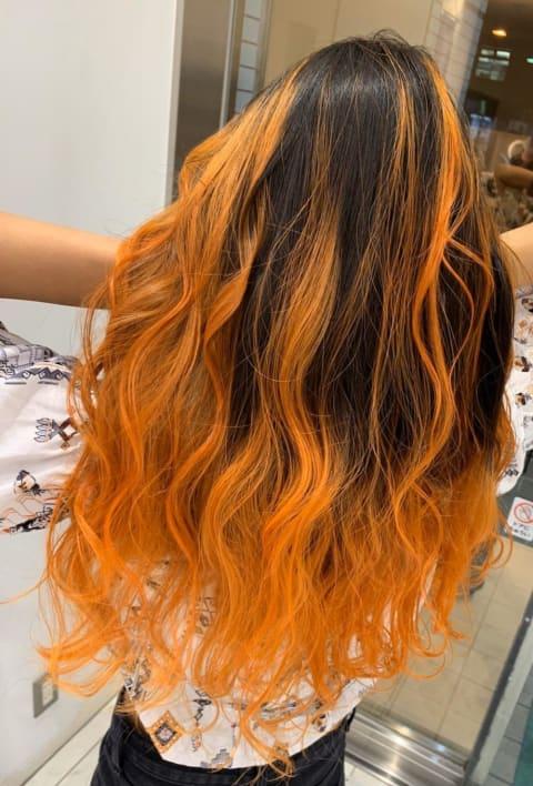 バレイヤージュオレンジ