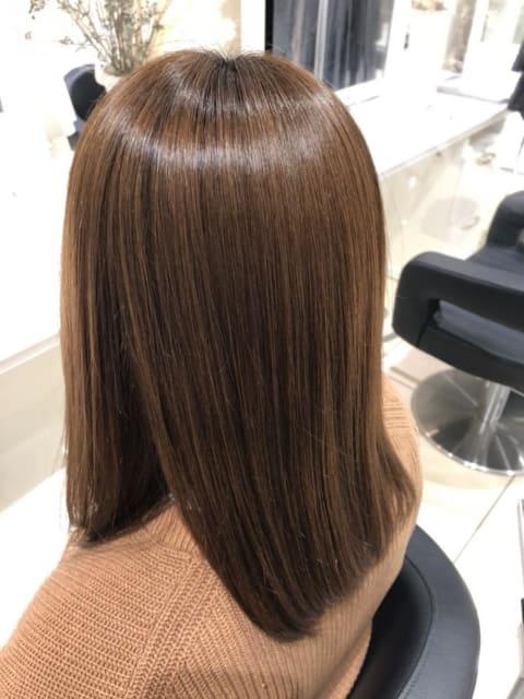 髪質改善×ストレート
