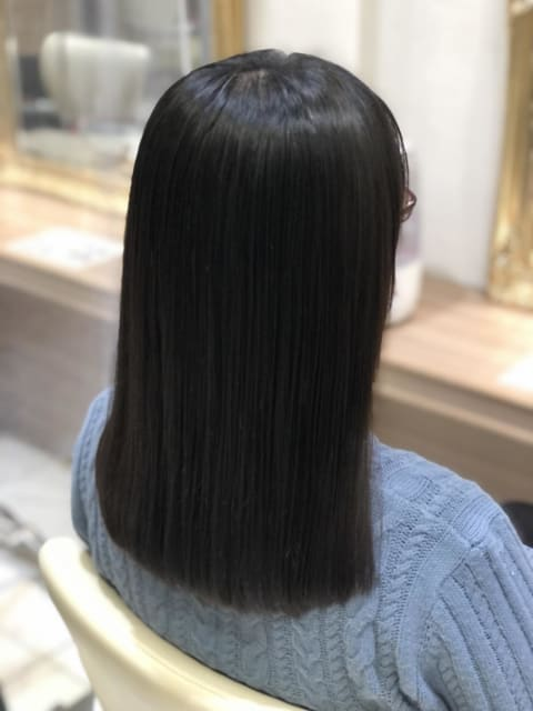 縮毛矯正+髪質改善トリートメント