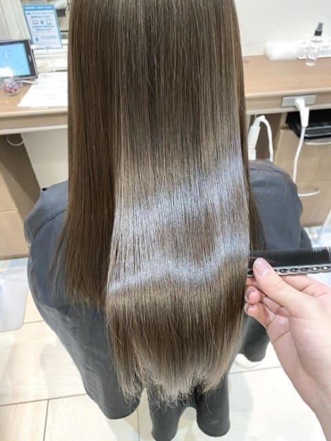 髪質改善×アッシュグレージュ