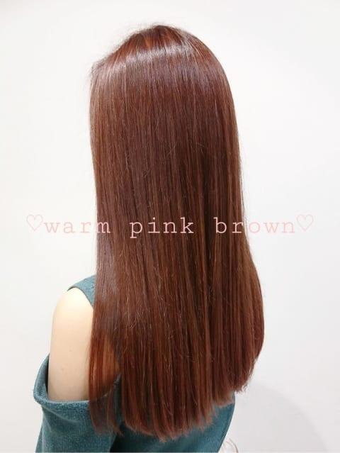 ★ウォームブラウンのさりげないピンク感♪