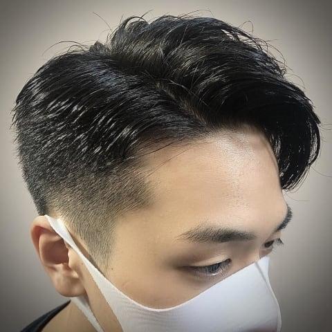 《黒髪×七三》