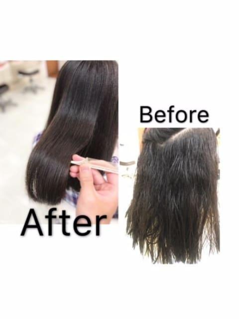最強のツヤ髪 縮毛矯正