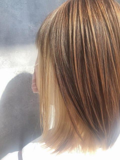 ブリーチ髪質改善縮毛矯正