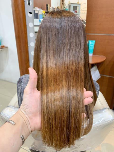 ブリーチ毛でも髪質改善できる縮毛矯正!