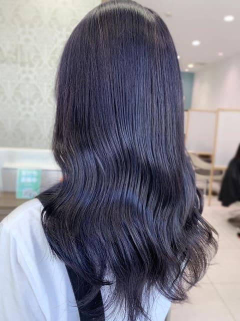 【髪質改善カラー】暗めラベンダー