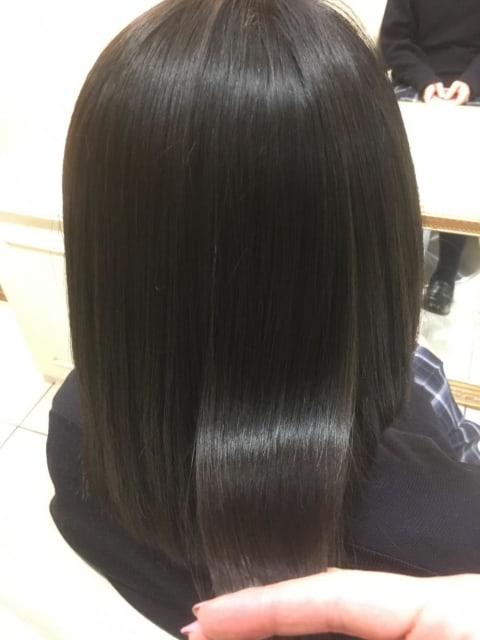 黒髪×艶ストレート