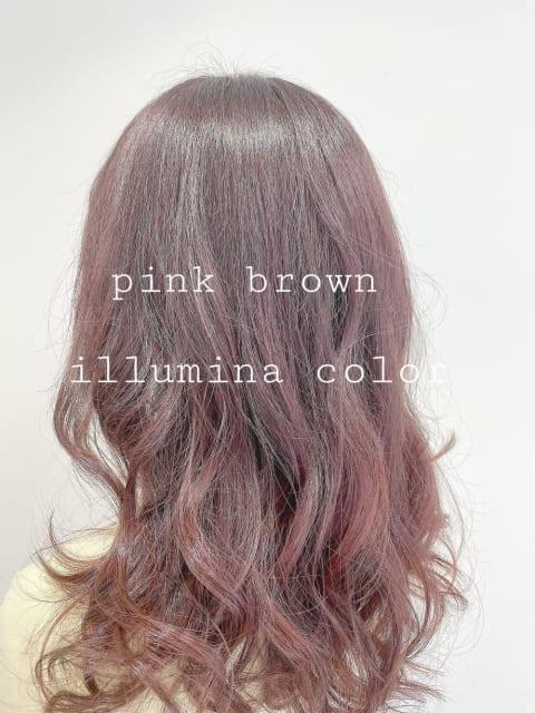 ★ なじむグラデーションカラーのやわらかピンクブラウン