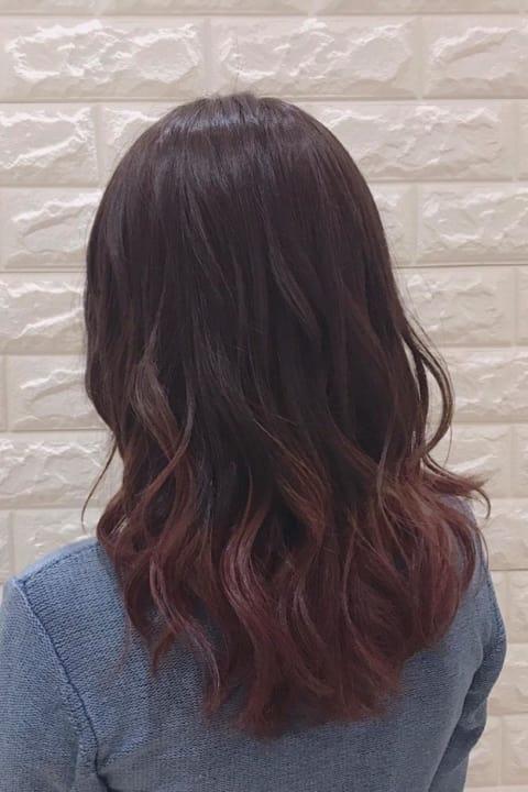 ピンク♡グラデーションカラー