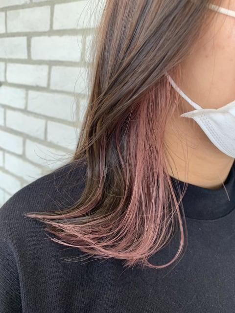 イヤリングカラー★ピンクグレー