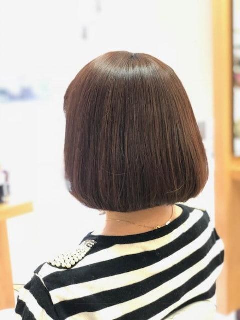 癖を伸ばすだけじゃなく、広がりを抑えてまとまりやすい縮毛スタイルへ☆