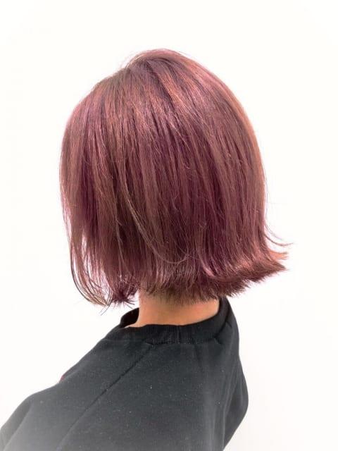 濃厚ツヤ髪ピンクベージュ