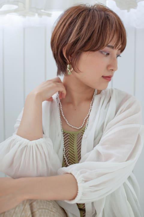 【30代ショート】×【ー5歳カット】