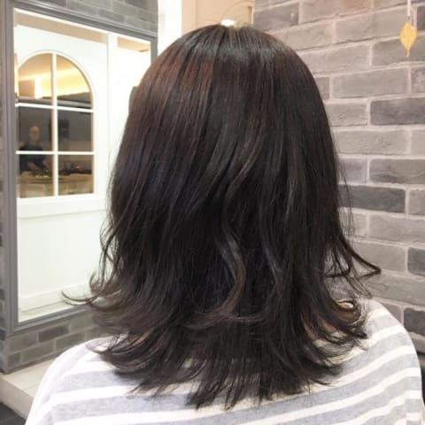 【イルミナオーシャン】暗髪だけど光に当たると透けるお洒落カラー!!