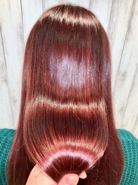 髪質改善×酸性ストレート