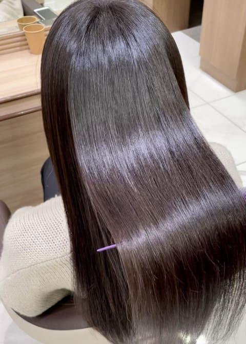 髪質改善ストレート×ロング
