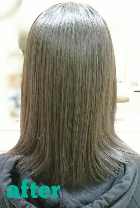 Ash大森店の【くせ毛をまとまりやすく】縮毛矯正