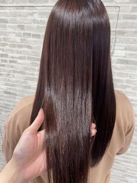 秋カラー×髪質改善縮毛矯正