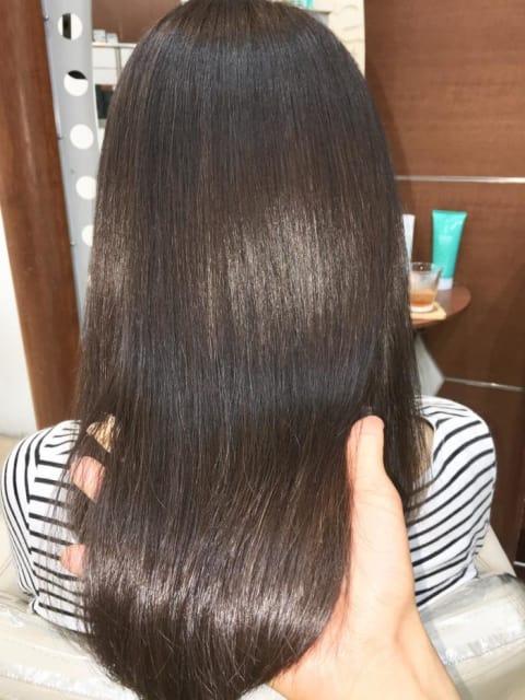 CMCダメージレス縮毛矯正で髪質改善