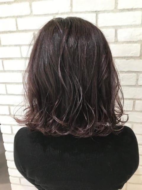 ヴァイオレットピンク×暗艶髪