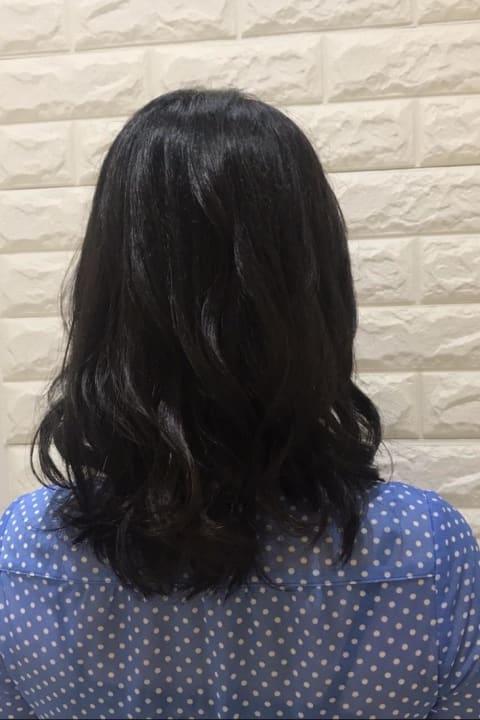 THROWカラー✕ツヤ暗髪