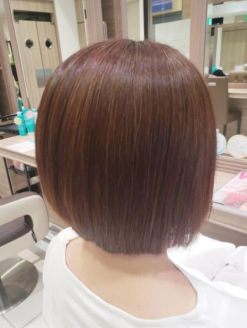 髪質改善ストレートボブ