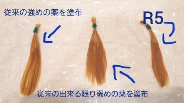 ブリーチ毛への縮毛矯正実験