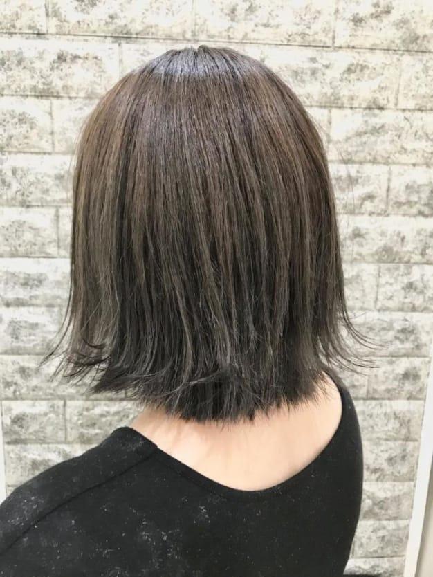 【イルミナカラー♡オーシャン】でグレージュ&暗髪透明感カラー