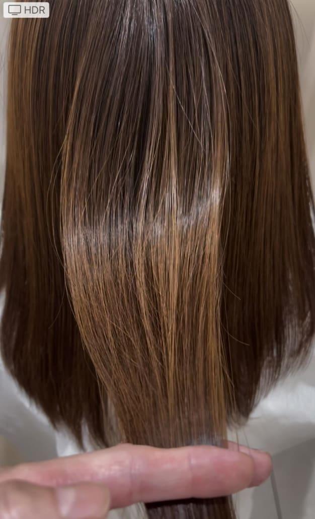 今話題の髪質改善の圧倒的艶感‼️