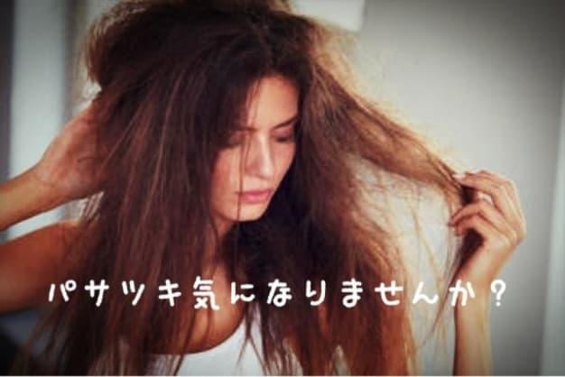 髪の毛のパサパサ気になりませんか?
