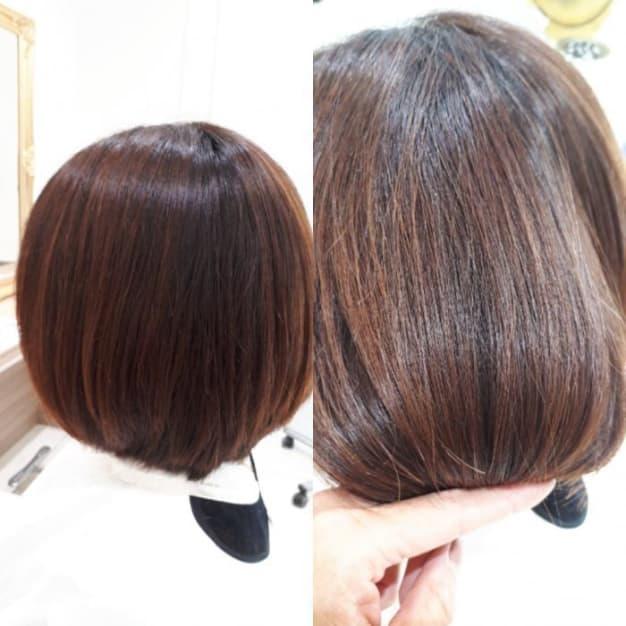ハイダメージ毛へのストレート施術