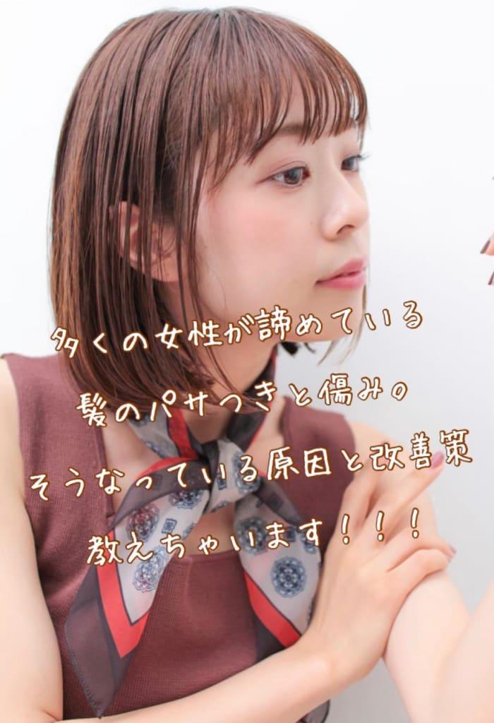 日本人の女性が悩んでいる第1位の髪のパサつきと第2位の傷み 改善する秘密とは!?