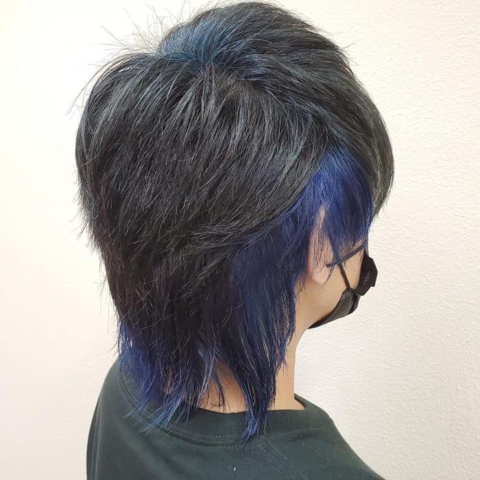 ブルー×ブラックカラー