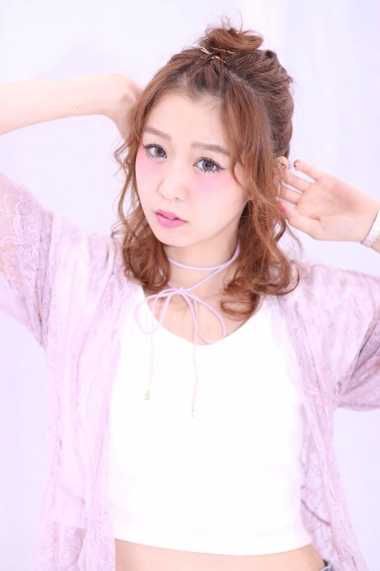 【Ash反町店/片庭千晴】ハーフアップ☆ヘアアレンジ|メイン写真