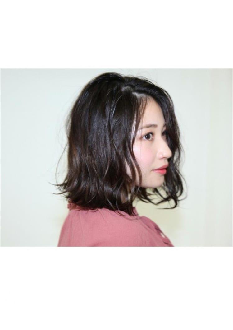 セミウェット仕上げ☆切りっぱなしボブ サブ写真②