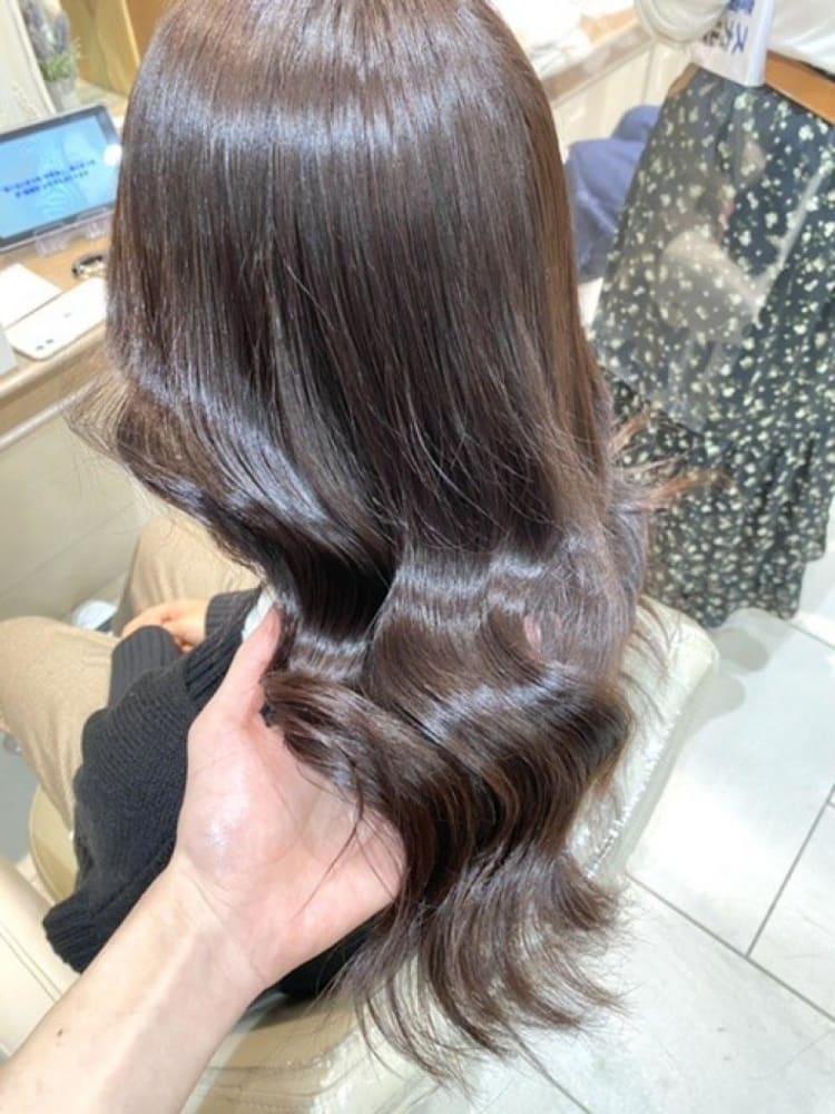 艶々の美髪カラー アーモンドラテ|メイン写真