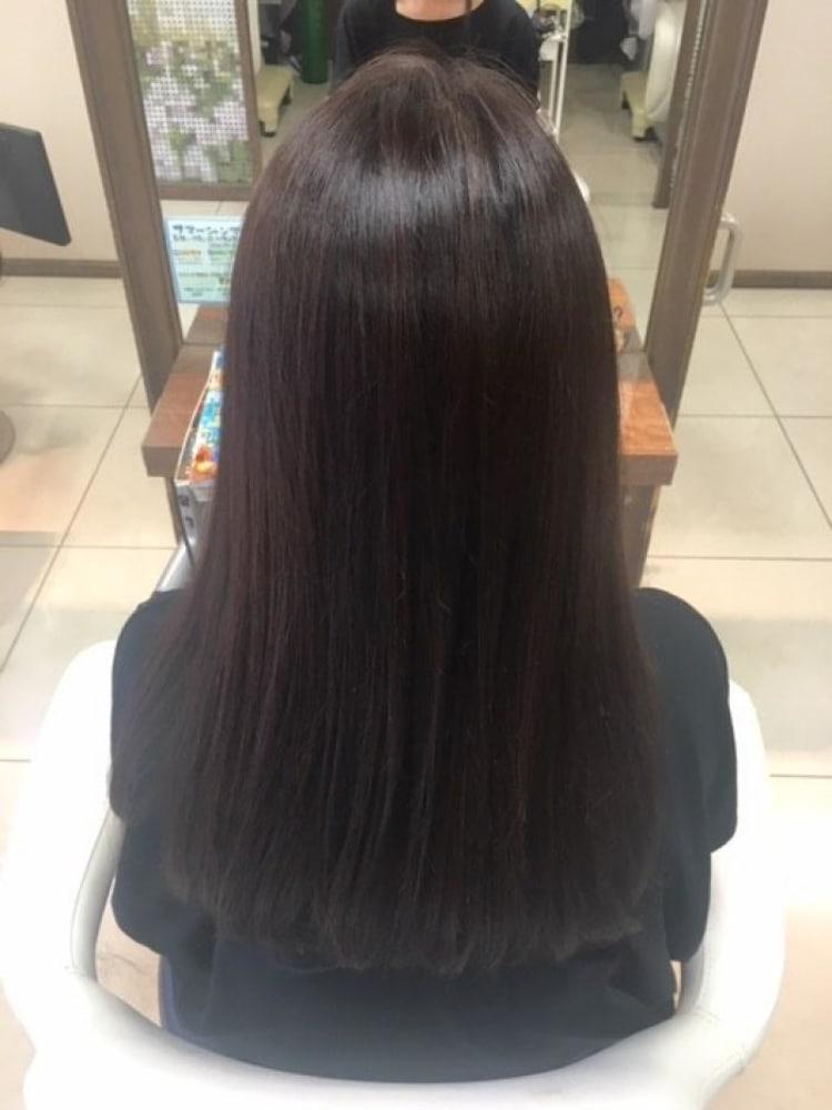 ダメージレス縮毛矯正で髪質改善|サブ写真②