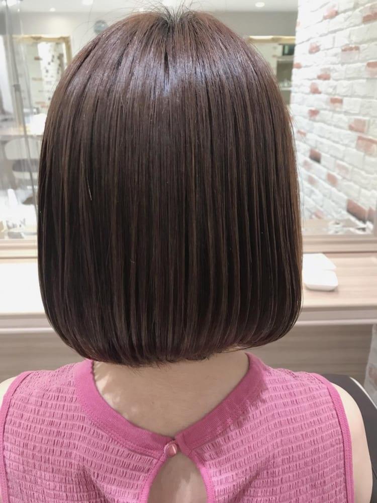 髪質改善トリートメントではねない艶ボブ|サブ写真②