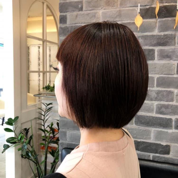 【切れ毛、抜け毛でまとまらない】縮毛矯正でスタイリング簡単ボブ|メイン写真