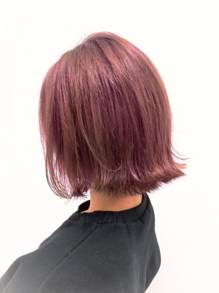濃厚ツヤ髪ピンクベージュ|メイン写真