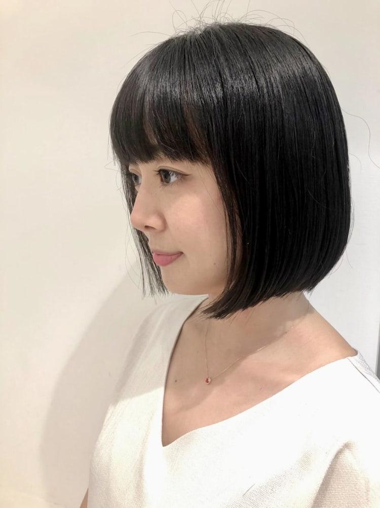 【髪質改善】つやっとまとまる小顔ボブ♪|メイン写真