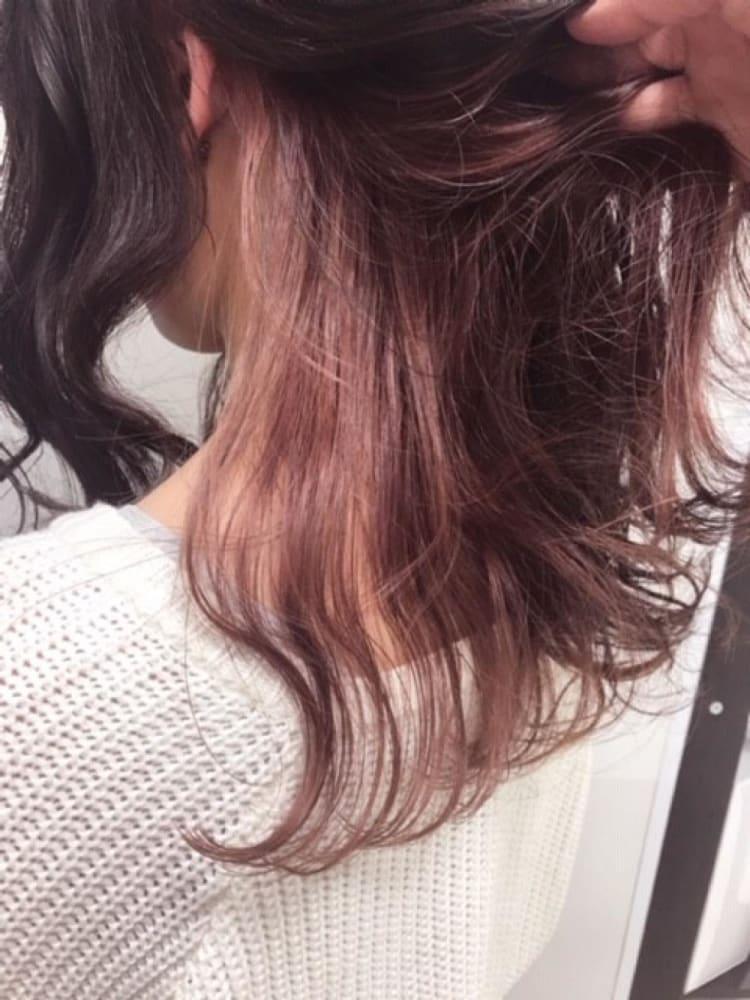 【インナーカラー】ピンク×ピンクブラウン サブ写真②
