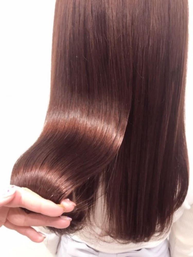 ダメージレス縮毛矯正×ピンクイルミナカラー|サブ写真②