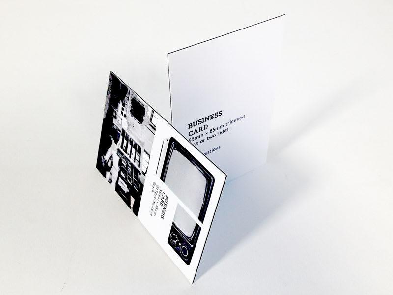 Black core business cards, 815gsm premium 3 ply