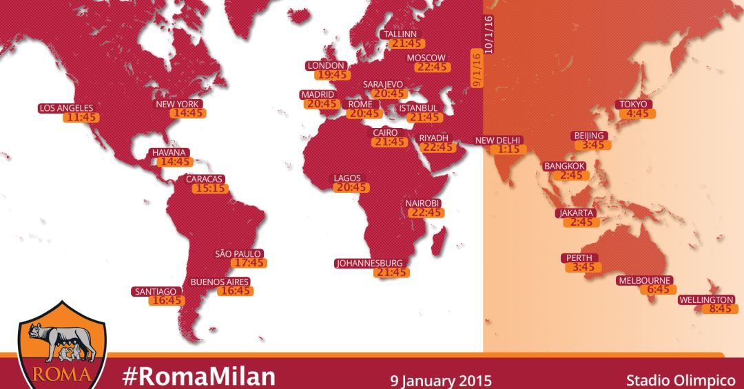 Global kick-off times and TV guide for Roma v Milan