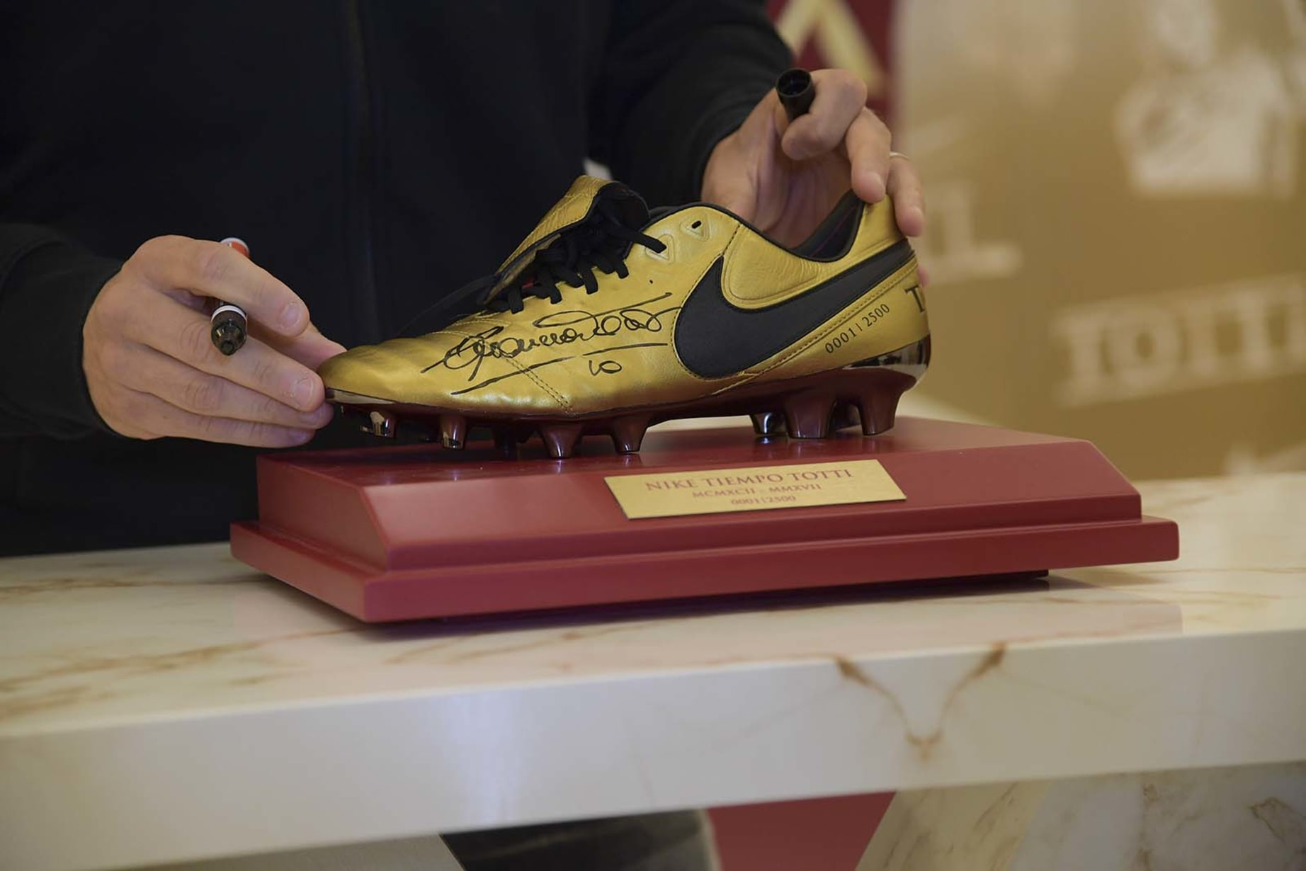 big sale a0582 41cb5 Gallery: Totti delights fans at Nike boot launch