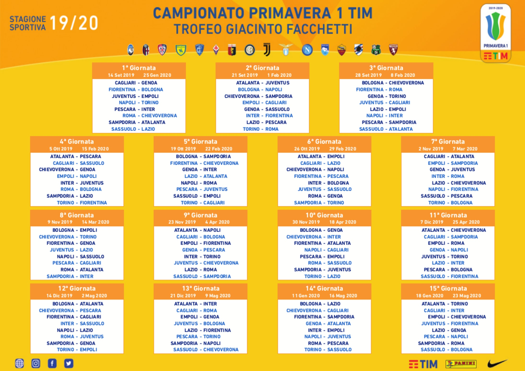Interit Calendario.Fixture List Set For Primavera Campaign